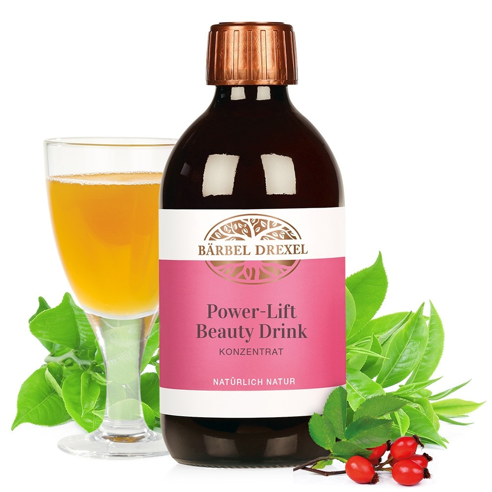 Power-Lift Beauty Drink mit Deko