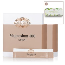 Duo Magnesium 400 DIREKT - Sticks Orange/Grapefruit, je 30 x 2 g mit Taschendose